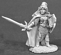 Callindra Silverspell - Female Fighter w/Sword & Shield