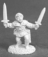 Dar Dimplefoot - Male Halfling Fighter w/2 Swords