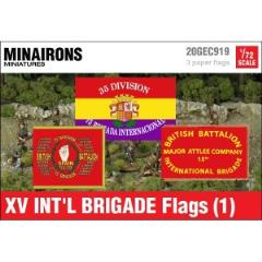 XV International Brigade Flags