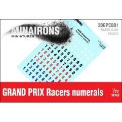 Racing Cars Serial Numbers