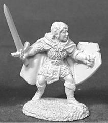 Mellonir Windrunner - Male Elven Fighter w/Sword & Shield