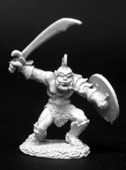 Orc Warrior of Kargir w/Sword, Helm & Round Shield