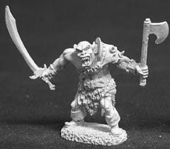 Black Orc Warrior w/Sword & Axe