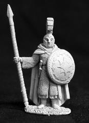 Elven Temple Guardian - Male Fighter w/Pike & Shield