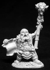 Odum Rumblebeard - Male Wizard w/Staff & Scroll