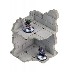 Frozen City Ruins - Ruinous Corner Wall (Pre-Painted)