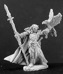 Wood Elf King w/Spear & Hawk