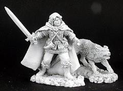 Cullen & Ash - Male Ranger w/Sword & Wolf