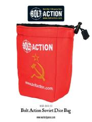 Bolt Action Soviet Dice Bag & Order Dice - Red w/Yellow (12)