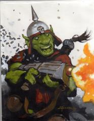 Untitled Warhammer 40K Goblin Acrylic Painting