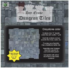 """Dry Erase Dungeon Tiles - Graystone Color - 10"""" (9)"""
