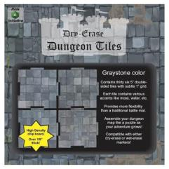 """Dry Erase Dungeon Tiles - Graystone Color - 5"""" (36)"""
