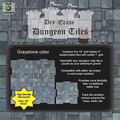 Dry Erase Dungeon Tiles - Graystone Color - Combo Pack