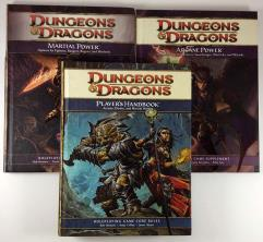 Dungeons & Dragons 4th Edition Player Upgrade Collection - 3 Books!