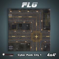 4' x 4' - Cyberpunk City #1