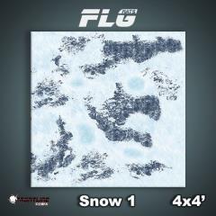 4' x 4' - Snow #1