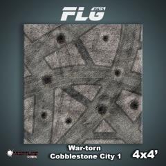 4' x 4' - War-Torn Cobblestone City #1