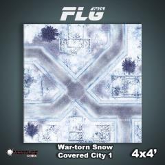 4' x 4' - War-Torn Snow Covered City #1