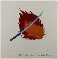 5th Sword of Light - The Gold Dragon Original Unit Insignia