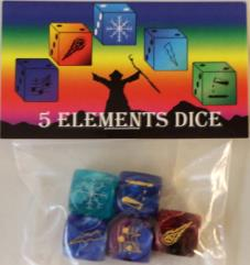 Five Elements Dice (5)