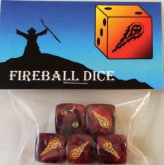 Fireball Dice (5)