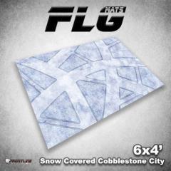 6' x 4' - Snow Covered Cobblestone City #1