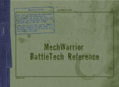 MechWarrior BattleTech Reference