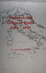 Italian Army Order of Battle 1939-1943