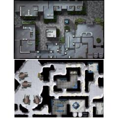 Double-Sided Map - Imperial Plaza/Ice Fortress North