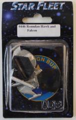 Romulan BattleHawk and Falcon