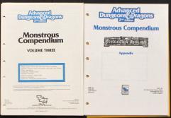 Monstrous Compendium Forgotten Realms Appendix #1 & #2