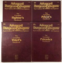 AD&D 2nd Edition Character Pack - 4 Books!