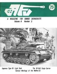 "Vol. 4, #3 ""The U.S. Army's M548 Tracked Cargo Carrier, The Admiral and the Afrikakorps, German Armored Reconnaissance Units"""