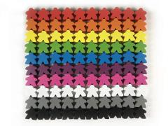 16mm Multi-Color Wooden Meeples