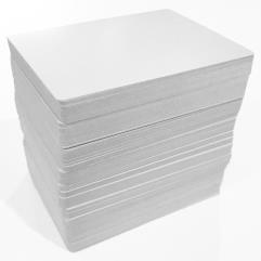 Blank Playing Cards - Poker Size, Uncoated