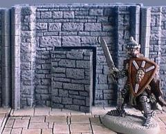 6cm Dungeon Wall w/Secret Door