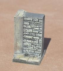 3cm Half Pillar and Wall