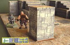 3x5cm High Square Stone Pillar