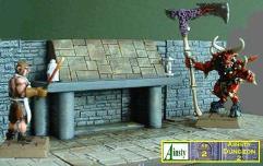 9cm Dungeon Fireplace w/Secret Door