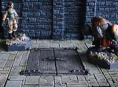 6x6cm Dungeon Floor w/Double Trapdoor