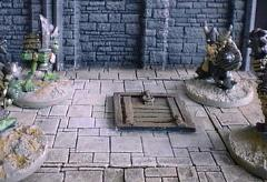6X6cm Dungeon Floor w/Small Trapdoor