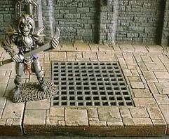 6x6cm Dungeon Floor w/Large Grill