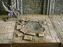 6x6cm Dungeon Floor w/Damage