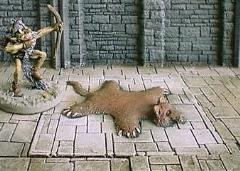 6x6cm Dungeon Floor w/Bearskin Rug