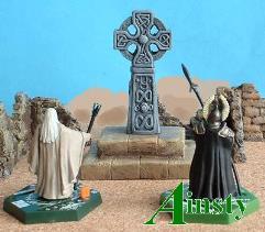 Celtic Stone Cross on Plinth