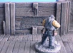 6cm Wooden Mine Wall w/Damage and Boarding