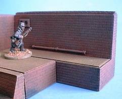 9x3cm Raised Sewer Wall w/Floor