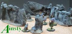 12cm Hex Rock Wall - 3 Variants