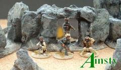 12cm Hex Rock Wall w/Opening