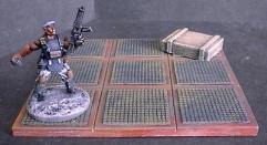 9x9cm 'A' Pattern Floor Tile